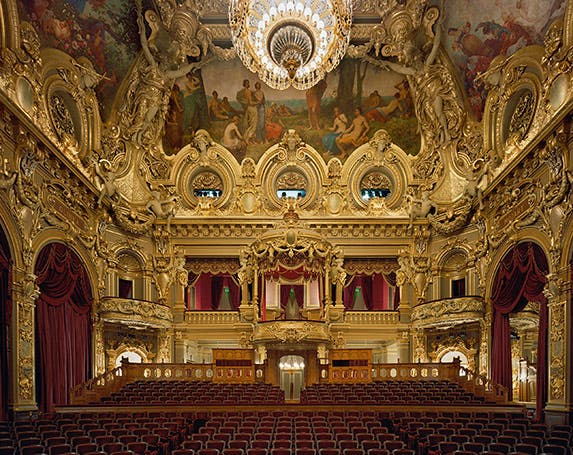 An opulent opera house in Monaco   Photo credit: David Leventi