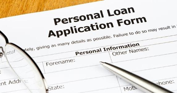Personal loan application form © iStock