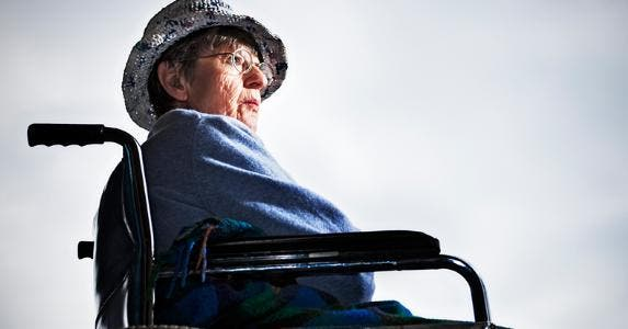 Senior woman in wheelchair © iStock