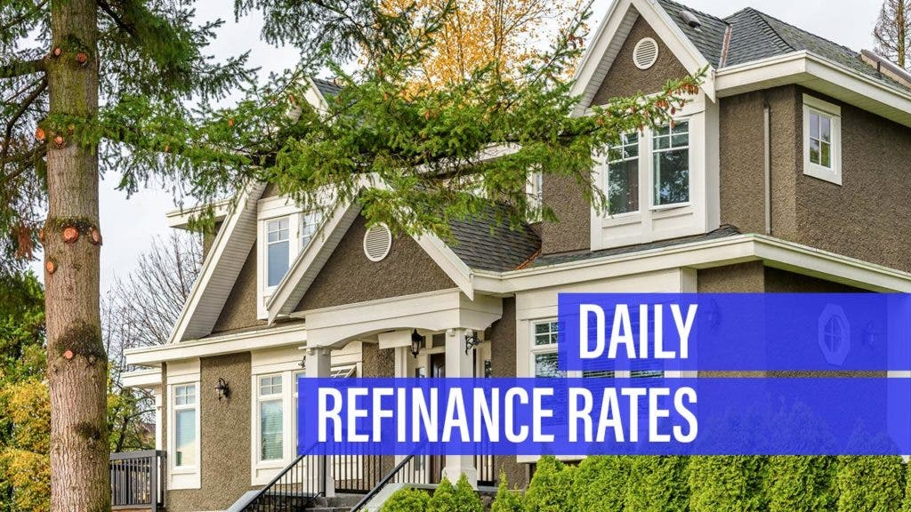 Refinance mortgage rate increases for Monday