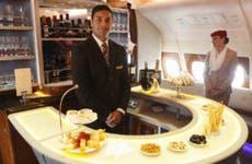 Bartender in an airplane