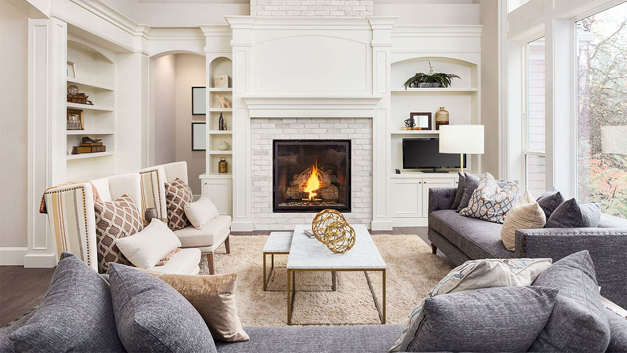 Nicely staged living room