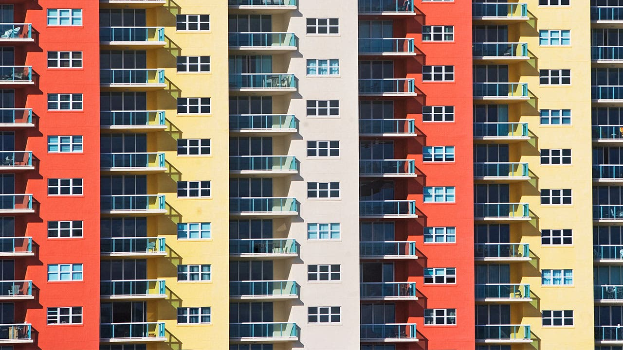 Big And Colorful Condominium Complex