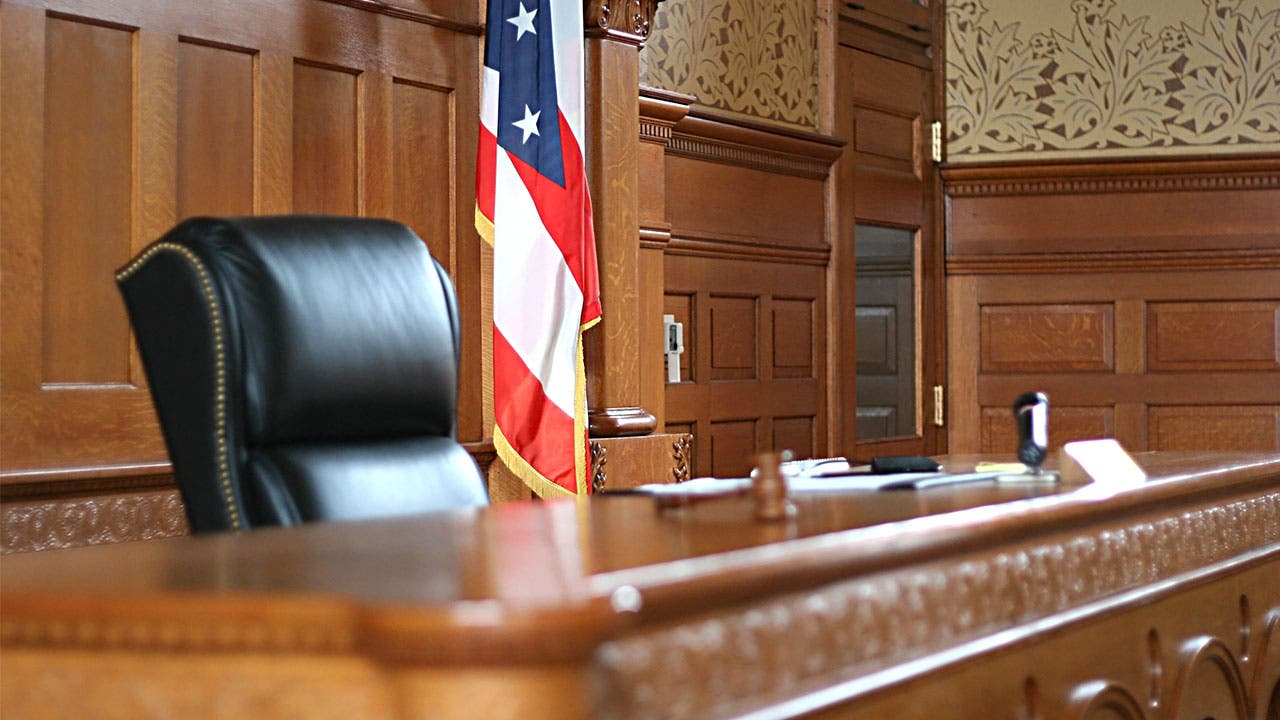 Empty Courtroom Judges Chair