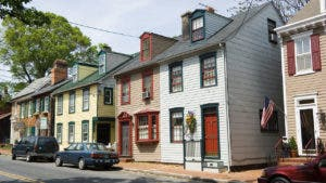 Row of houses in the Mid West