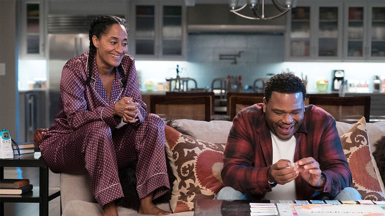 "Andre and Rainbow Johnson in ABC's ""Black-ish"""