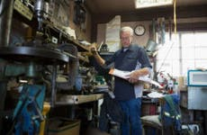 Mechanic in workshop
