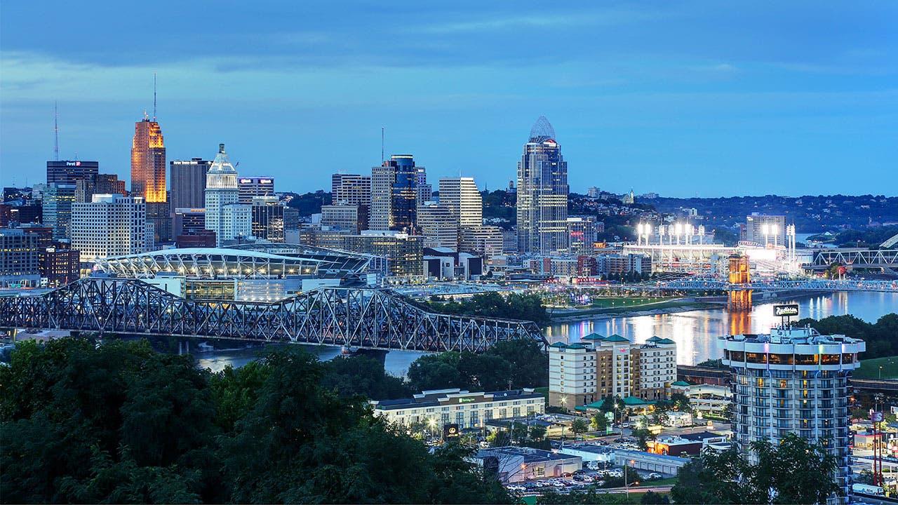 The Cincinnati riverfront