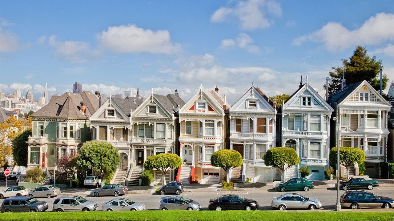 The 'Painted Ladies' in San Francisco