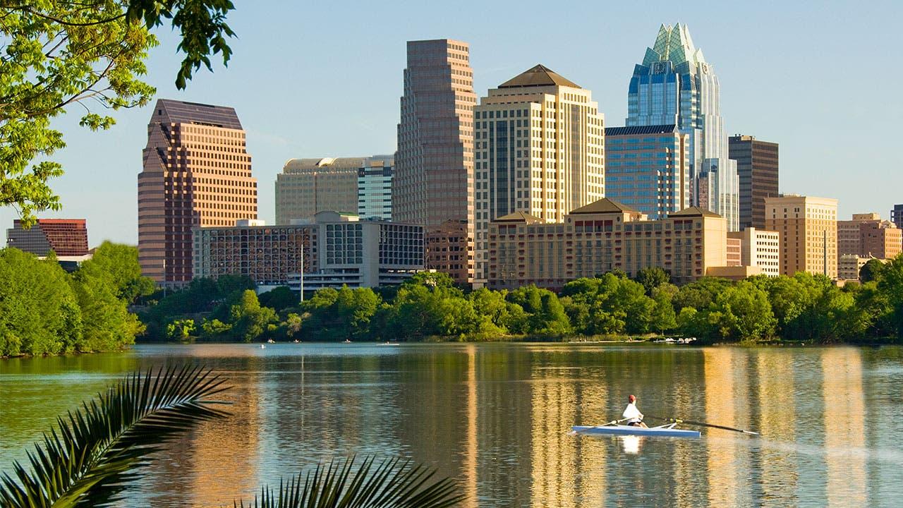 Part of the Austin, Texas, skyline