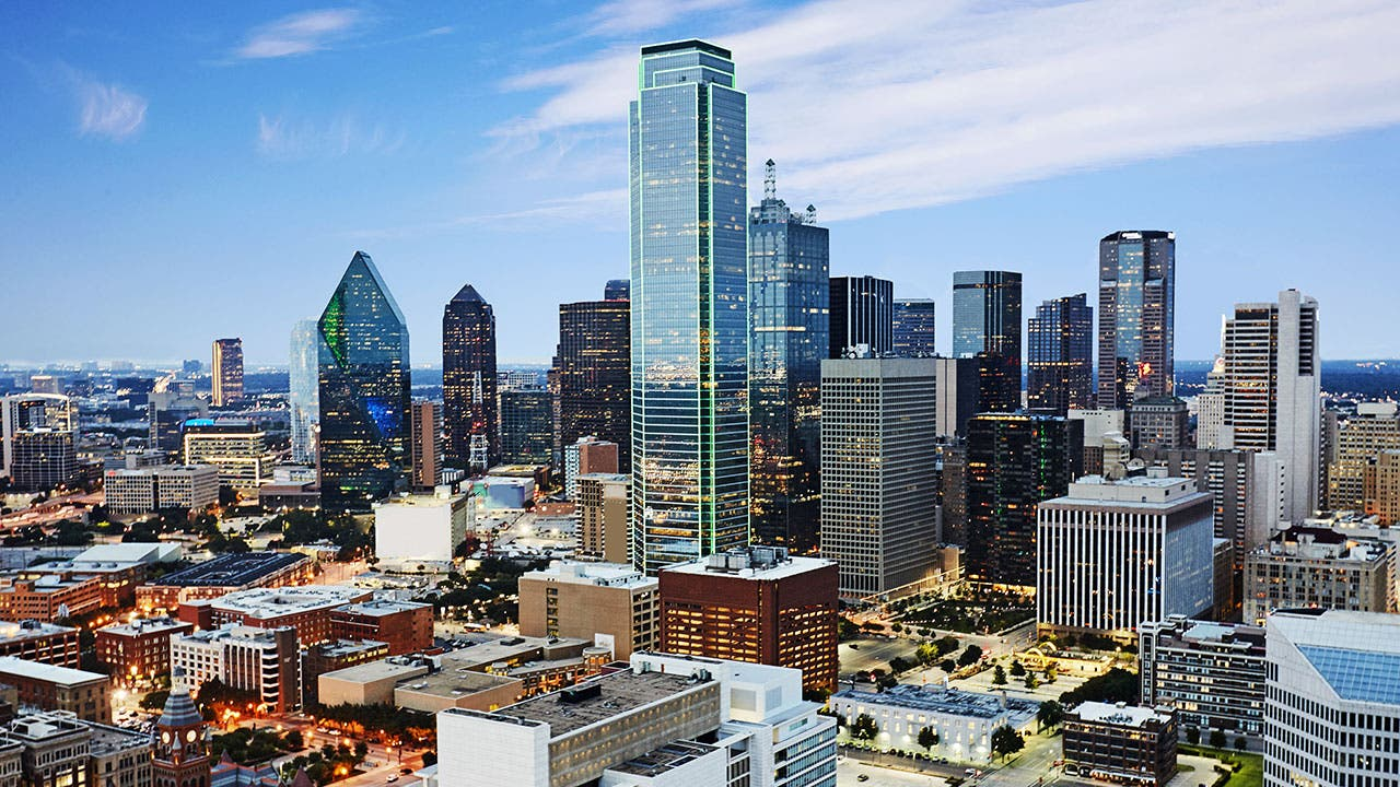 Part of the Dallas skyline