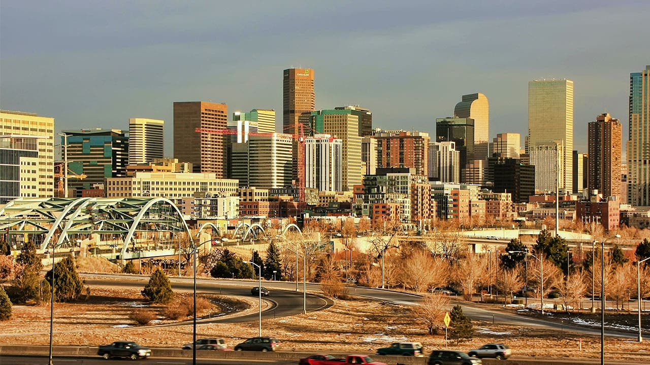 The Denver skyline