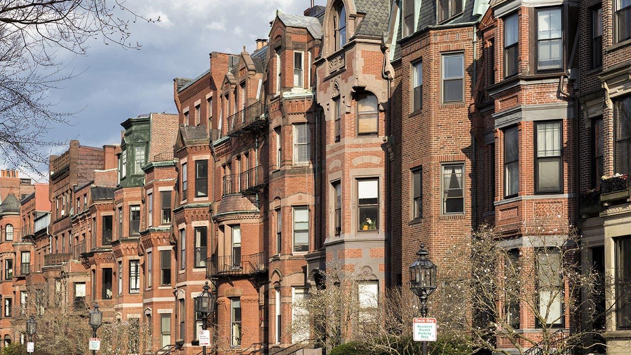 Residential buildings in Boston