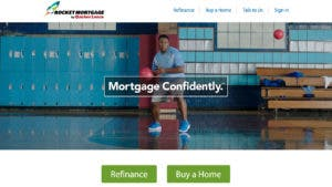 Rocket Mortgage website