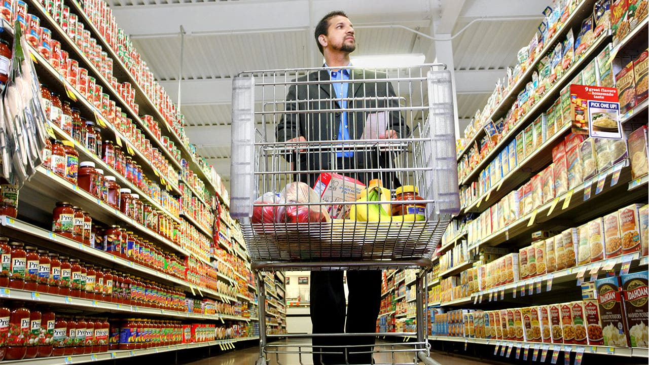 Man shopping for food