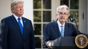 Jerome Powell and Donald Trump at White House
