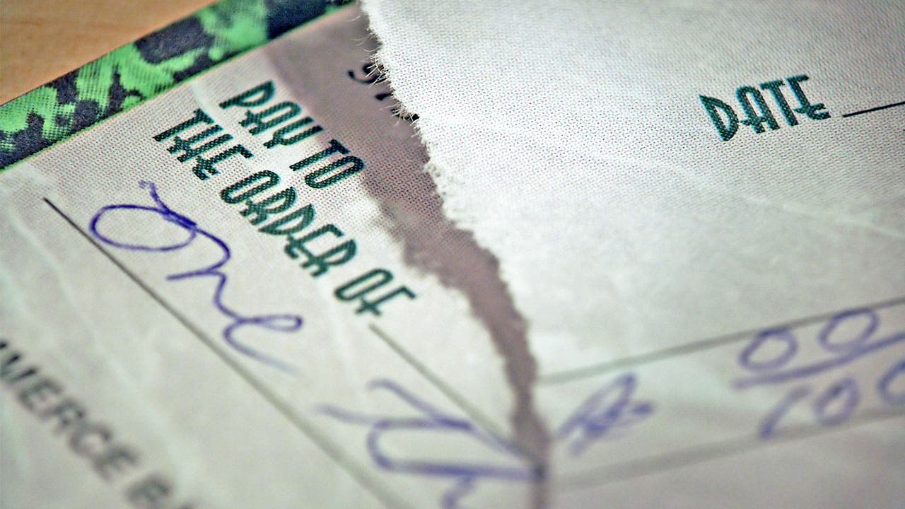 Torn cancelled check