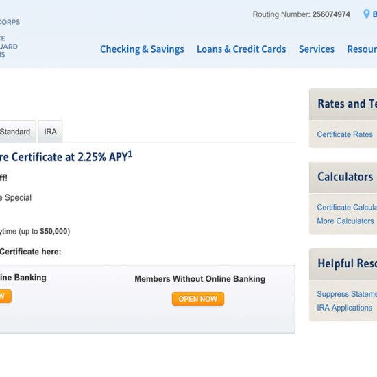 Navy Federal Auto Loan >> Navy Federal Credit Union S Amazing Cd Deal Bankrate Com