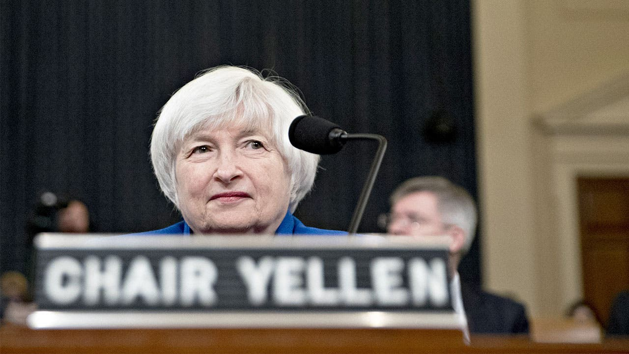 Fed Chair Janet Yellen in session