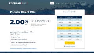 Popular Direct 18-month CD
