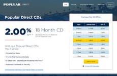 Popular Direct 18-month CD