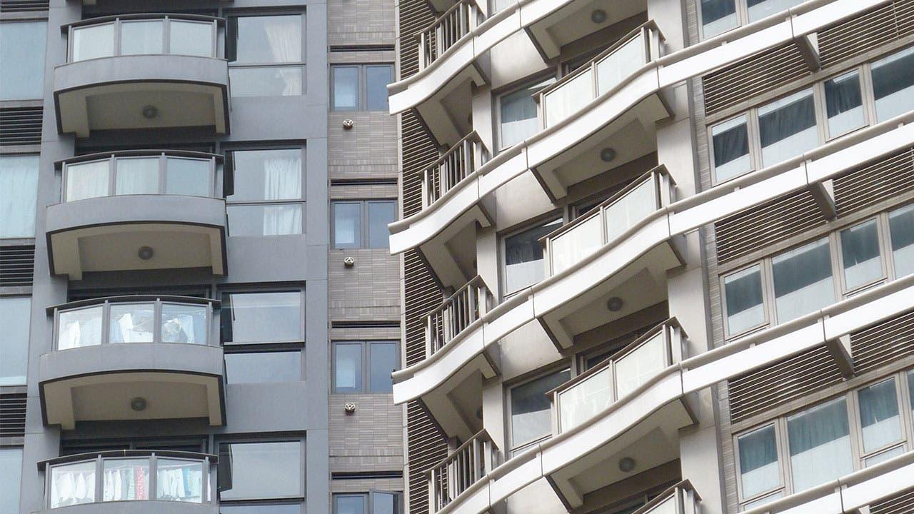 Condo balconies apartment complex