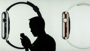 Man with phone in Apple Watch