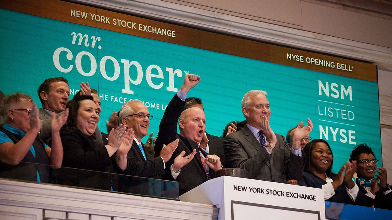 Mr Cooper at the New York Stock Exchange