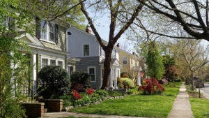Suburban homes in Spring