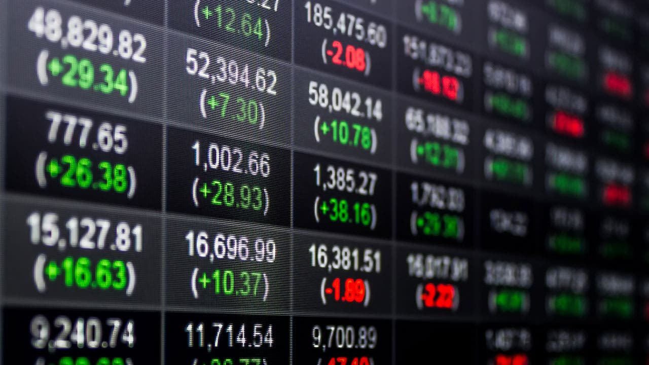 stocks on a board