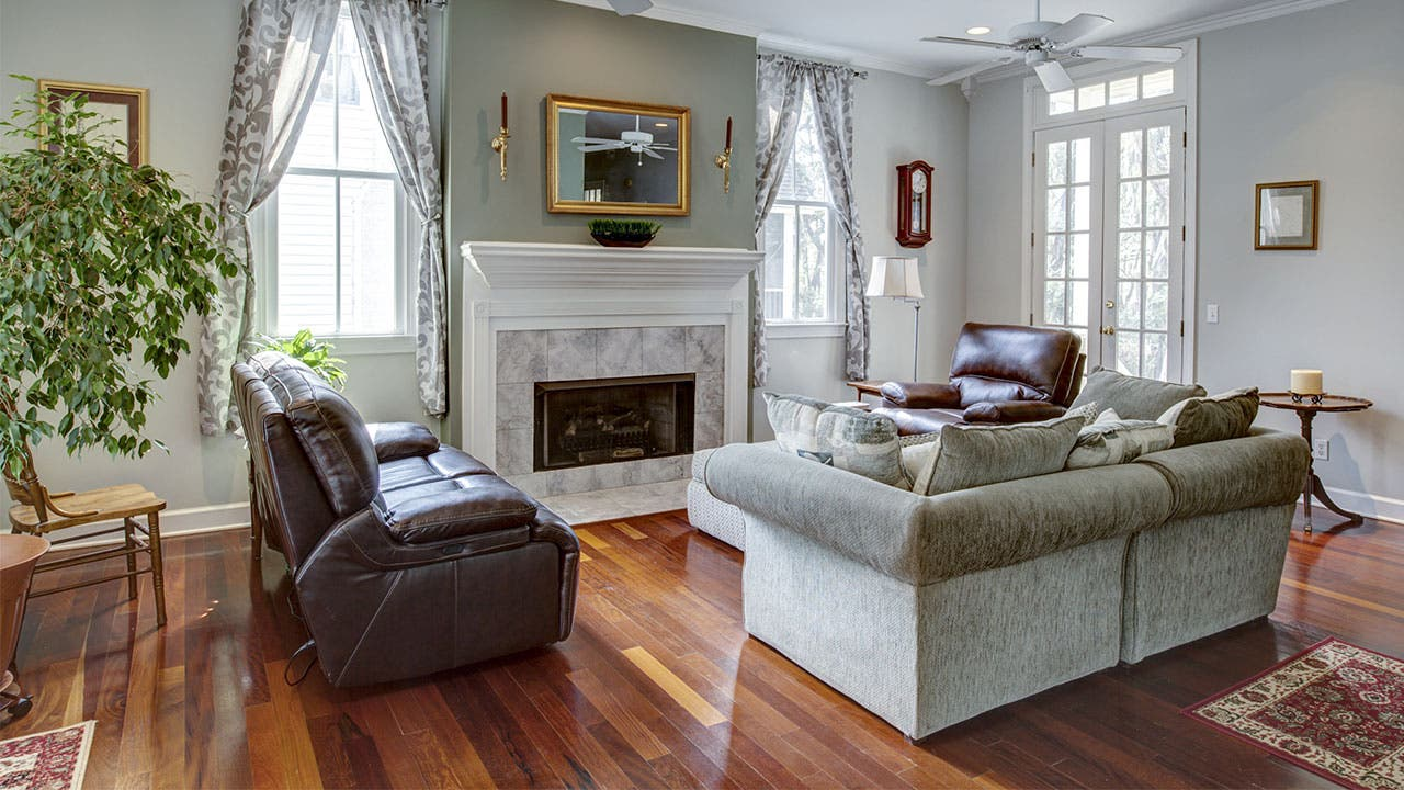 gray formal livingroom