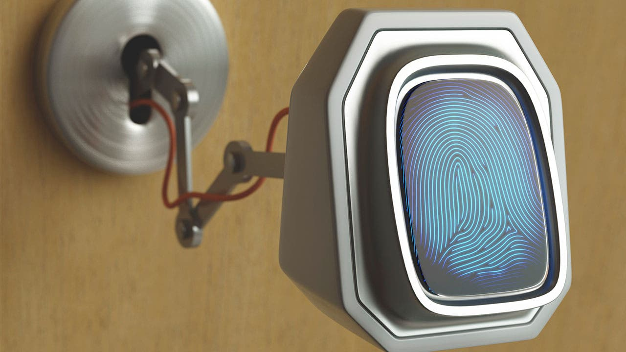 Biometric finger print security scanner