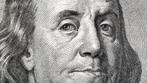 Close up of hundred dollar bill