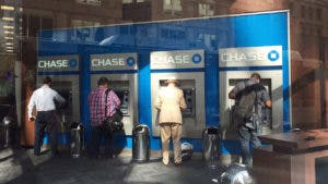 Men using Chase atm