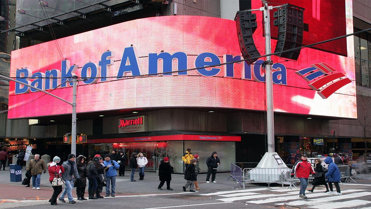 Bank of America branch in Manhattan
