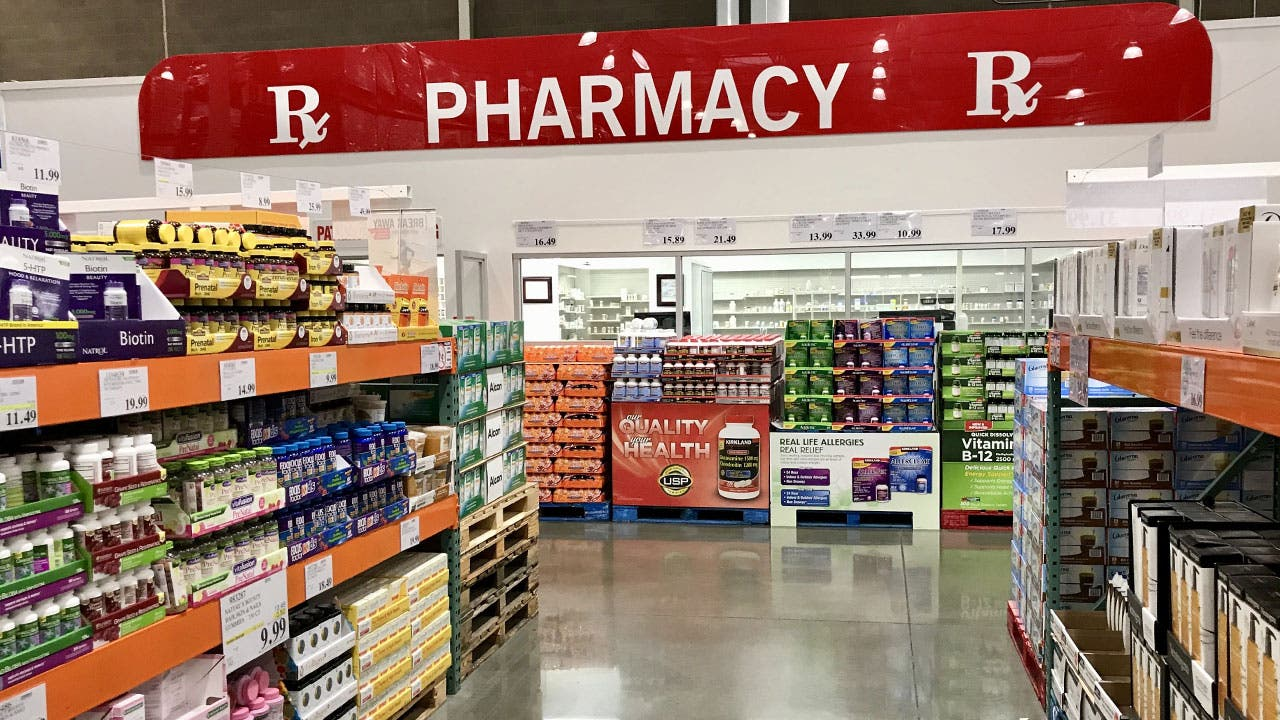 Pharmacy aisle in Costco