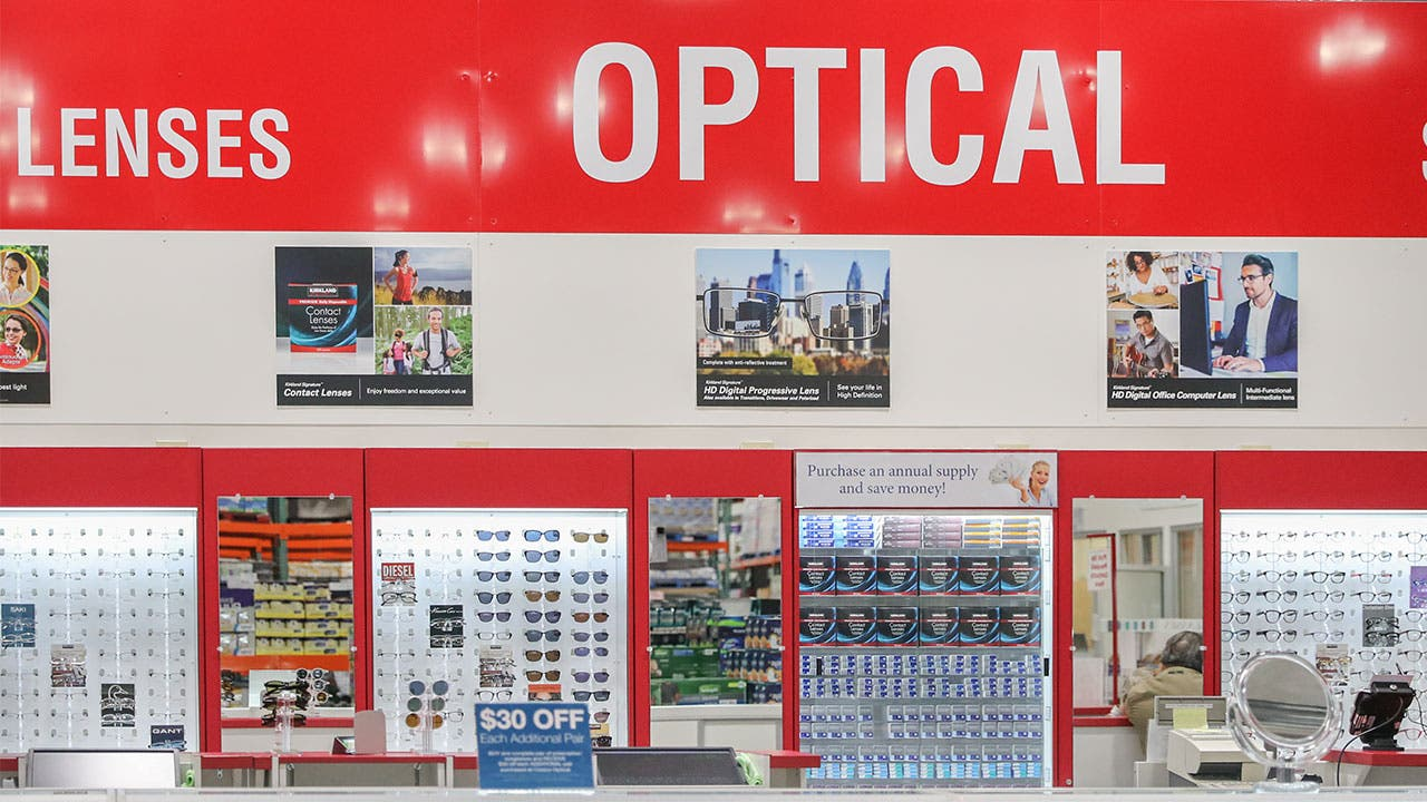 Costco optical section