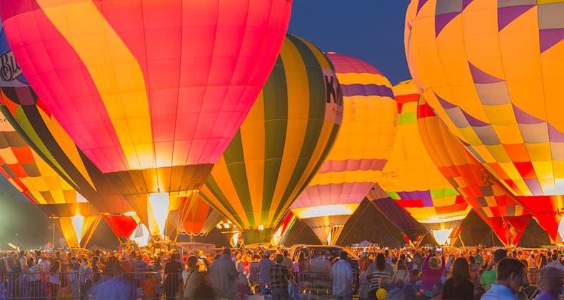 Hot air balloon festival in Missouri