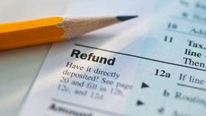 Tax refund paperwork