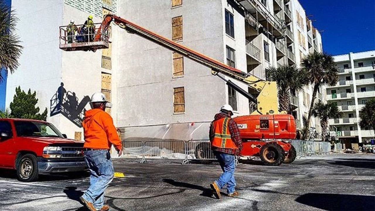 Men on a construction job