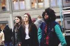 Millennials walking in city