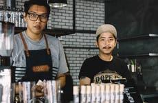 Baristas at coffee shop