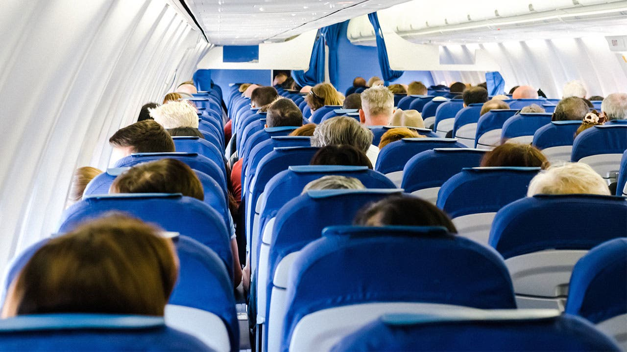 People aboard a flight