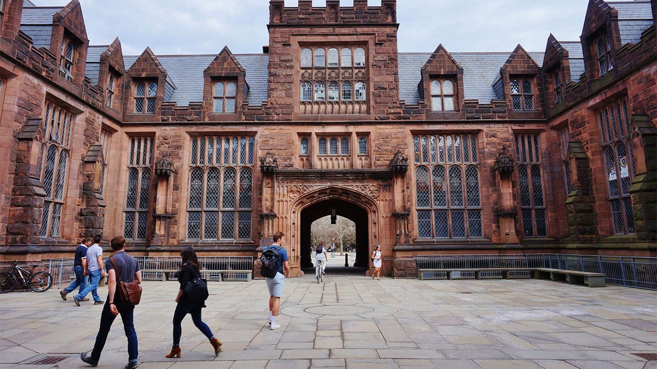 Students walking on Princeton campus
