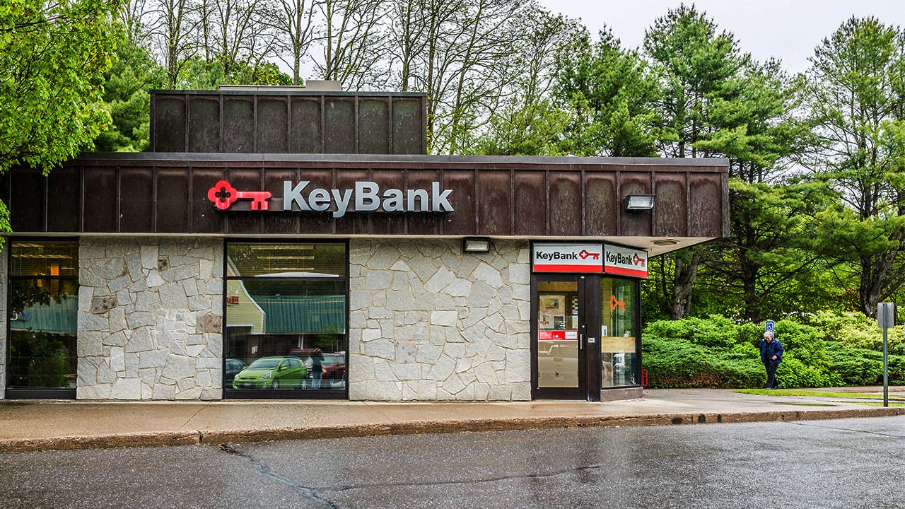 KeyBank building in Maine