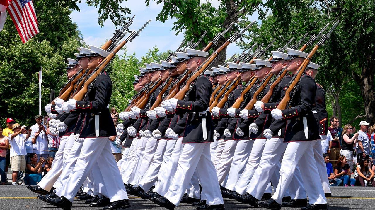 Memorial Day Military parade