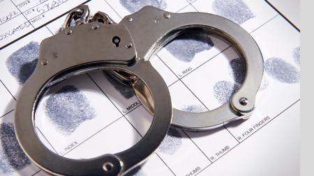 handcuffs criminal record