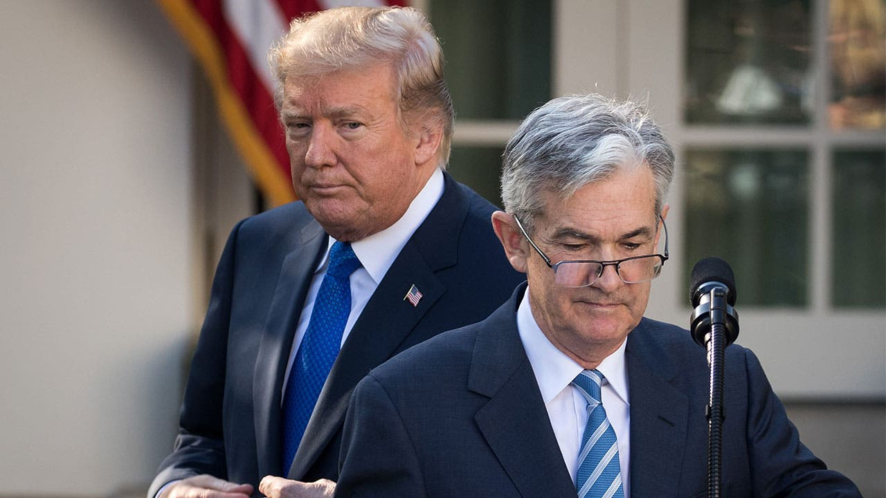 President Trump and Jerome Powell
