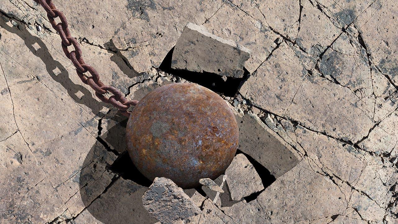 Wrecking ball impact