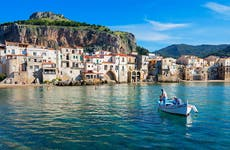 Fisherman off the coast to Italy